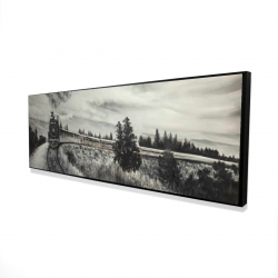Framed 16 x 48 - 3D - Steam engine train
