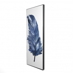 Framed 16 x 48 - 3D - Blue feather