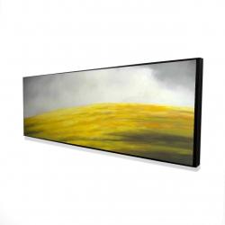 Framed 16 x 48 - 3D - Yellow hill