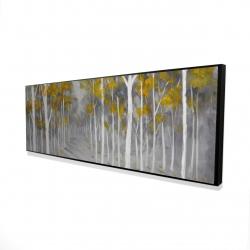 Framed 16 x 48 - 3D - Birch forest