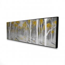 Framed 16 x 48 - 3D - Yellow birch forest