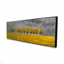 Framed 16 x 48 - 3D - Trees in a field