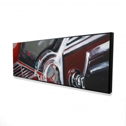 Framed 16 x 48 - 3D - Vintage red car dashboard