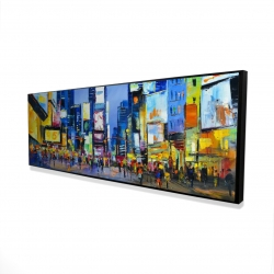 Framed 16 x 48 - 3D - Cityscape in times square