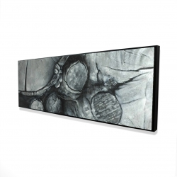 Framed 16 x 48 - 3D - Textured wooden logs