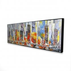 Framed 16 x 48 - 3D - Color splash cityscape