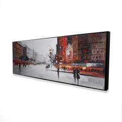 Framed 16 x 48 - 3D - Classic street scene