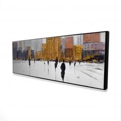 Framed 16 x 48 - 3D - City on the horizon