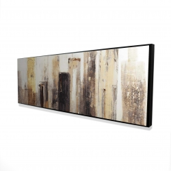 Framed 16 x 48 - 3D - Earthy tones city