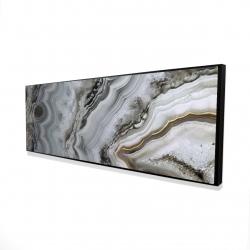 Framed 16 x 48 - 3D - Abstract geode