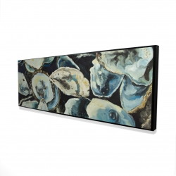 Framed 16 x 48 - 3D - Oyster shells