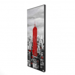Framed 16 x 48 - 3D - Empire state building of new york