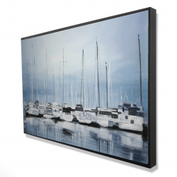 Framed 24 x 36 - 3D - Boats at the dock 2