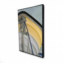 Framed 24 x 36 - 3D - The yellow boat
