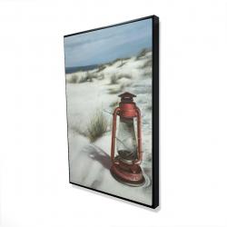 Framed 24 x 36 - 3D - Lantern on the beach