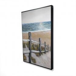 Framed 24 x 36 - 3D - Soft seaside