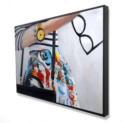 Framed 24 x 36 - 3D - Fashionable woman with glasses