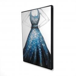 Framed 24 x 36 - 3D - Blue princess dress