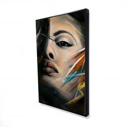 Framed 24 x 36 - 3D - Abstract woman portrait