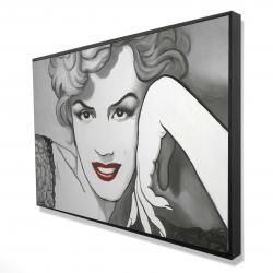 Framed 24 x 36 - 3D - Vintage style marilyn monroe