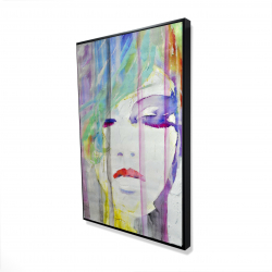 Framed 24 x 36 - 3D - Abstract colorful portrait