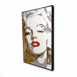 Framed 24 x 36 - 3D - Marilyn monroe with typography