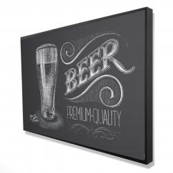 Framed 24 x 36 - 3D - Vintage beer signboard