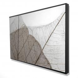 Framed 24 x 36 - 3D - Translucent dried leaves