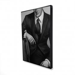 Framed 24 x 36 - 3D - Businessman
