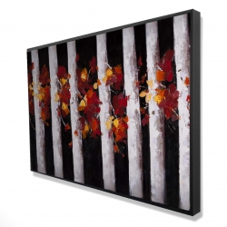Framed 24 x 36 - 3D - Trees and fall leaves