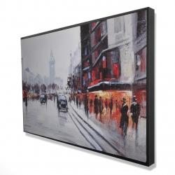 Encadré 24 x 36 - 3D - Scene de rue avec voitures