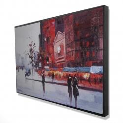 Framed 24 x 36 - 3D - Black and red street scene