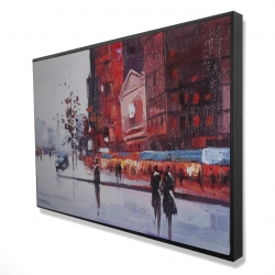 Framed 24 x 36 - 3D - Black and red street scene