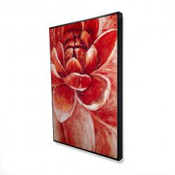 Framed 24 x 36 - 3D - Red chrysanthemum