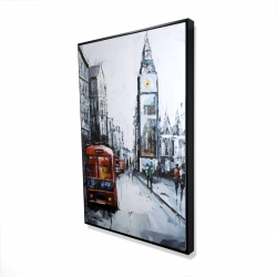 Framed 24 x 36 - 3D - Abstract london and red bus