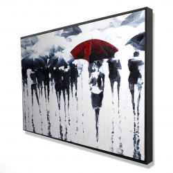 Framed 24 x 36 - 3D - Abstract silhouettes under the rain