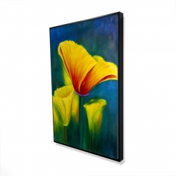 Framed 24 x 36 - 3D - Beautiful colorful flowers