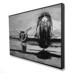 Framed 24 x 36 - 3D - Grayscale plane