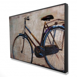 Framed 24 x 36 - 3D - Industrial bicycle