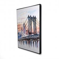 Encadré 24 x 36 - 3D - Esquisse d'un pont avec message écrit à la main