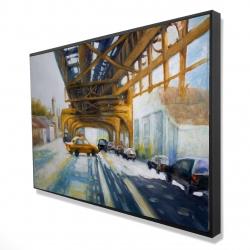 Framed 24 x 36 - 3D - Cars under the bridge
