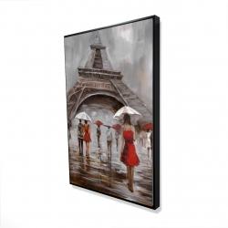 Framed 24 x 36 - 3D - Near the eiffel tower