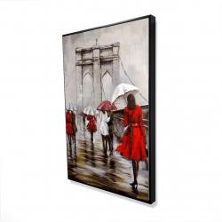 Framed 24 x 36 - 3D - Walk on the brooklyn bridge