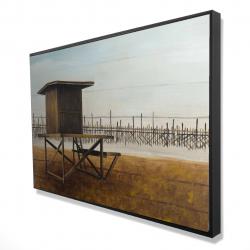 Framed 24 x 36 - 3D - Newport beach lifeguard tower