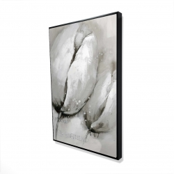 Framed 24 x 36 - 3D - Contemporary tulips