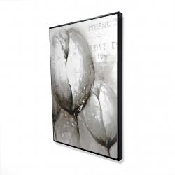 Framed 24 x 36 - 3D - Three white tulips