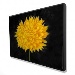 Framed 24 x 36 - 3D - Yellow chrysanthemum