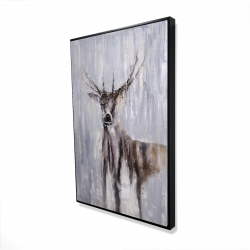 Framed 24 x 36 - 3D - Winter abstract deer