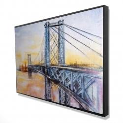 Framed 24 x 36 - 3D - Abstract brooklyn bridge