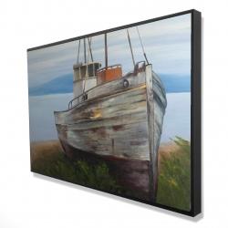 Framed 24 x 36 - 3D - Old abandoned boat